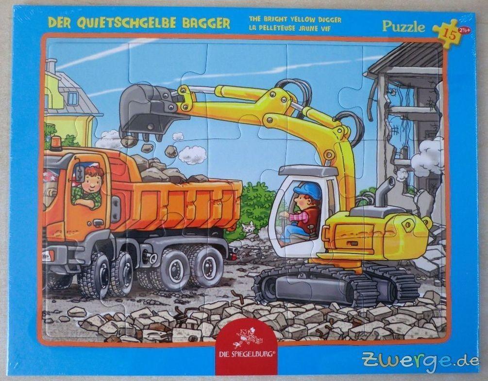 Rahmenpuzzle Der quietschgelbe Bagger (15 Teile) | Puzzle | Spiel ...