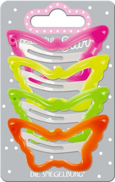 Haarclip Schmetterling neon (4 Stück) beautiful Stars