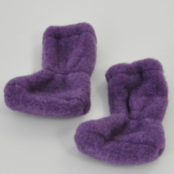 Pickapooh Schuhe Baby / Stiefel aus Wollfleece lila
