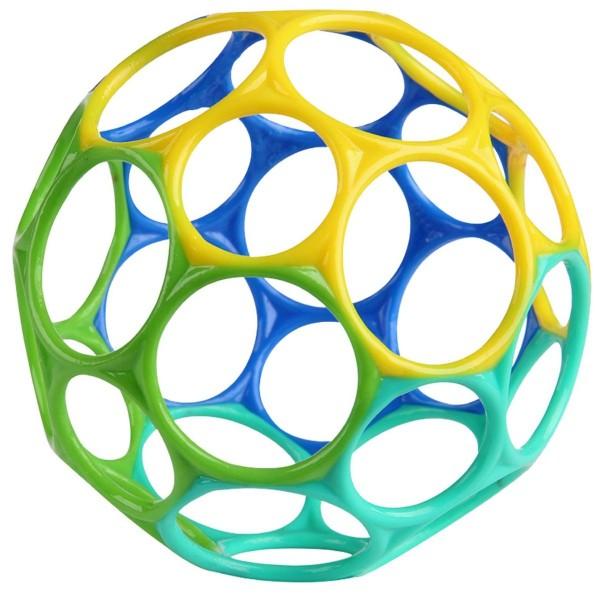 Oball türkis-grün-blau-gelb 10cm / o ball - Greifball Baby