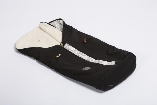 Kombifußsack / Ganzjahresfußsack schwarz Nachtfalter Naturkind - (Modell 2020)