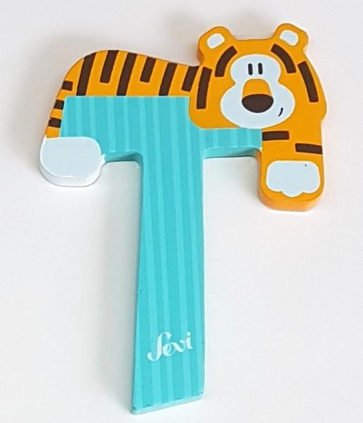 Sevi Holzbuchstabe T Tiger Tierbuchstabe pastell