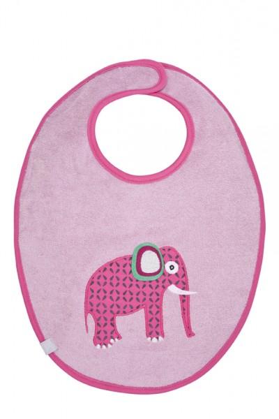 Lätzchen Baumwolle Elefant rosa von Lässig