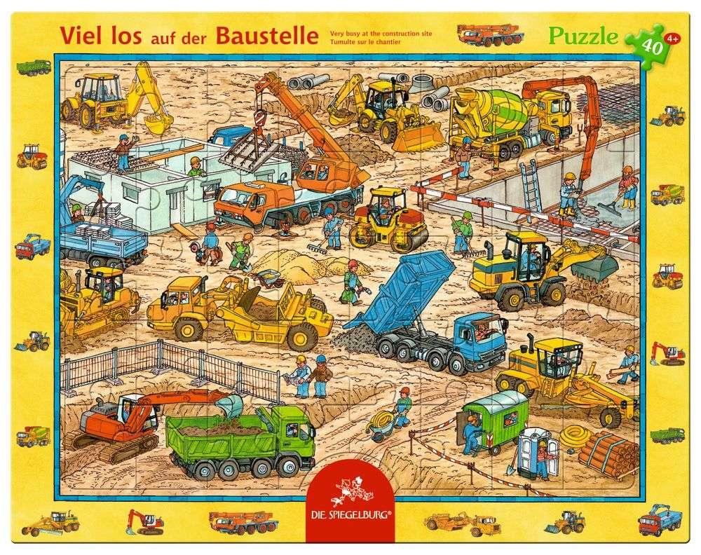 Rahmenpuzzle Viel los auf der Baustelle (40 Teile) | Puzzle | Spiel ...