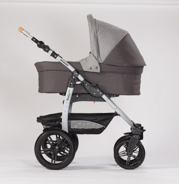 Naturkind Erstlingswagen Waschbär: Babykorb + Varius-Gestell