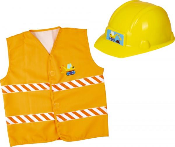 Verkleidungsset Bauarbeiter Helm Weste Rollenspiele Spiel