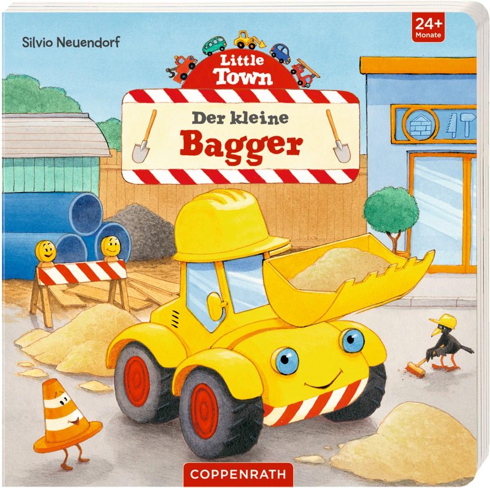 little town: der kleine bagger | baustelle | themen | zwerge.de