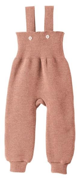 Disana Trägerhose rosé gestrickt Wolle