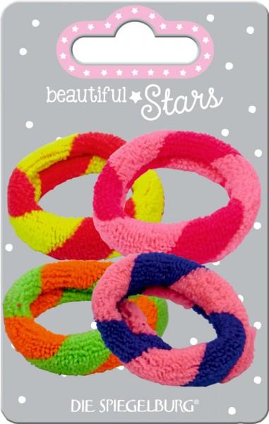 Haargummi Frottee (4 Stück) beautiful Stars