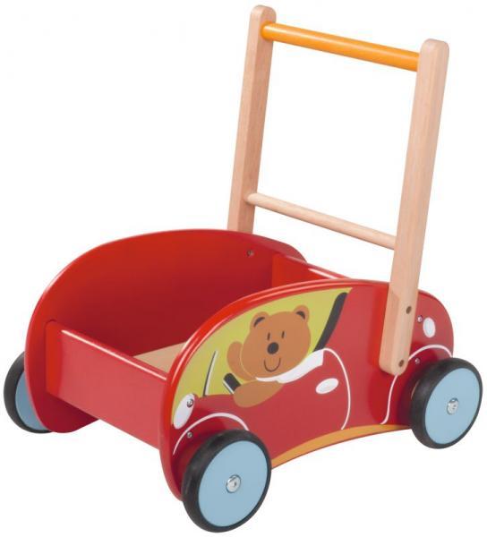 Lauflernwagen Holz Gummireifen