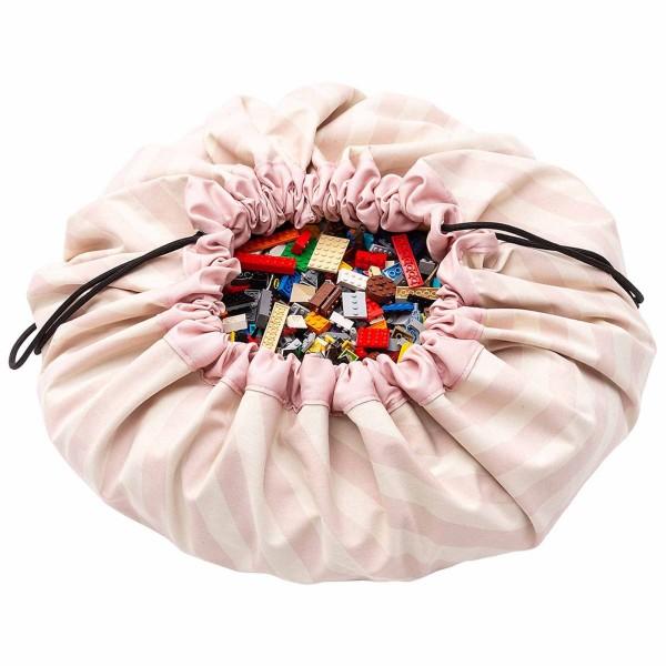 Spielzeugsack Streifen pink - Play & Go