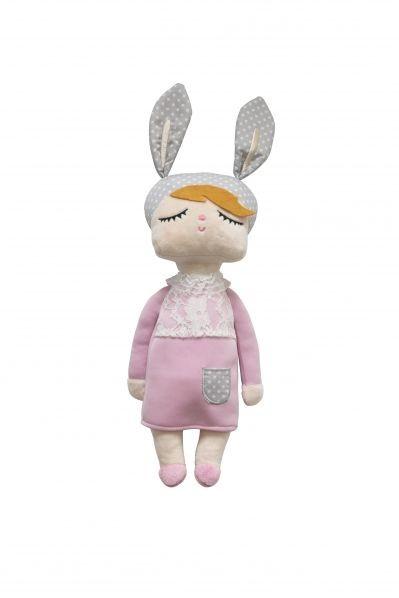 Hasenmädchen rosa /miniroom rabbit doll pink
