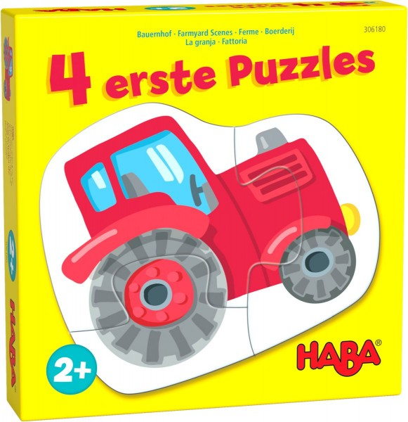 4 erste Puzzles – Bauernhof (1 x 2, 2 x 3 & 1 x 4 Teile) - Haba 306180