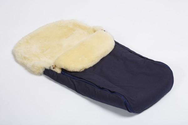 Naturkind Lammfellfußsack dunkelblau- SOFORT