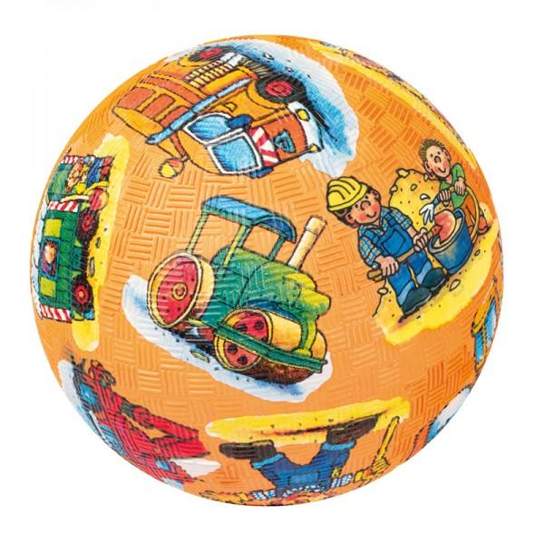 Kinderball 12,5 cm Baustellenfahrzeuge - Lutz Mauder