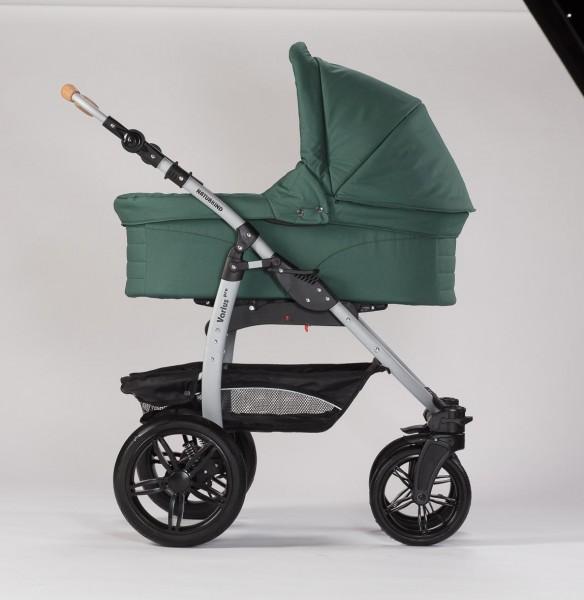 Naturkind Erstlingswagen Salbei: Babykorb + Varius-Gestell