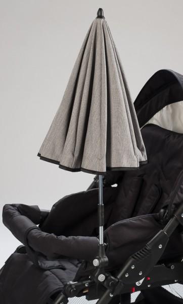 Naturkind Sonnenschirm siebenschläfer uni (grau-meliert) - SOFORT