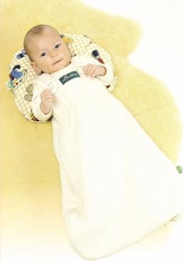 Lotties Bambini-Schlafsack Interlock natur uni 55cm