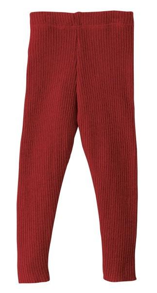 Disana Leggings bordeaux- Wolle gestrickt