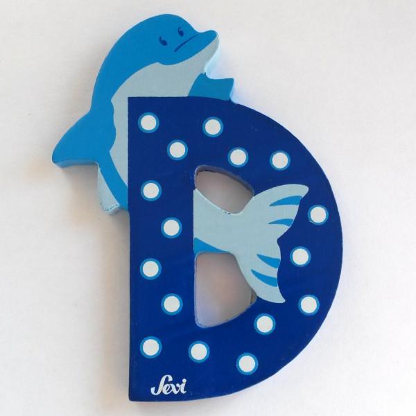 Sevi Tierbuchstabe Delphin D | Holzbuchstaben Kinderzimmer ...