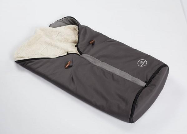 Kombifußsack / Ganzjahresfußsack Naturkind Waschbär (schiefergrau-grau)