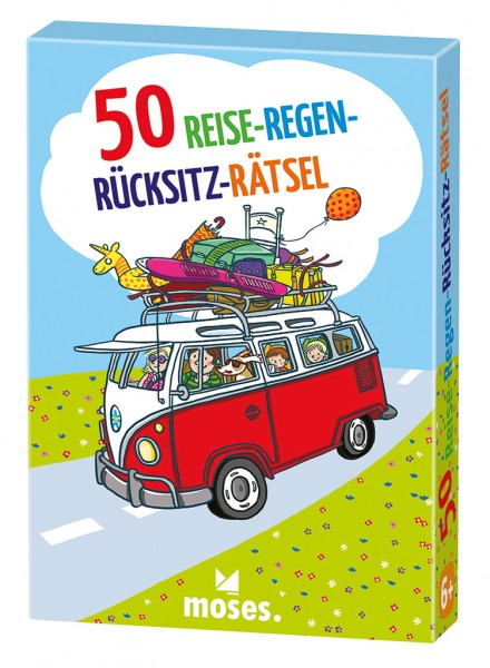 50 Reise-Regen-Rücksitz-Rätsel - moses Verlag