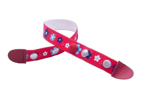 Clip.Ho Blumen rot - der clevere Kindergürtel mit dem Clip