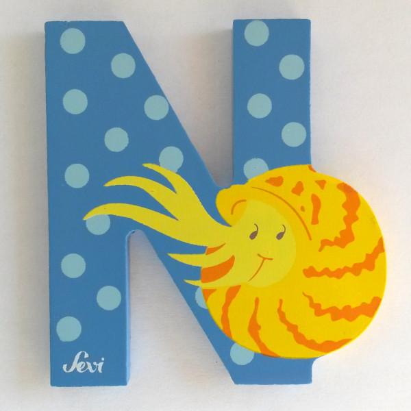 Sevi Tierbuchstabe Nautilus N   Holzbuchstaben Kinderzimmer ...