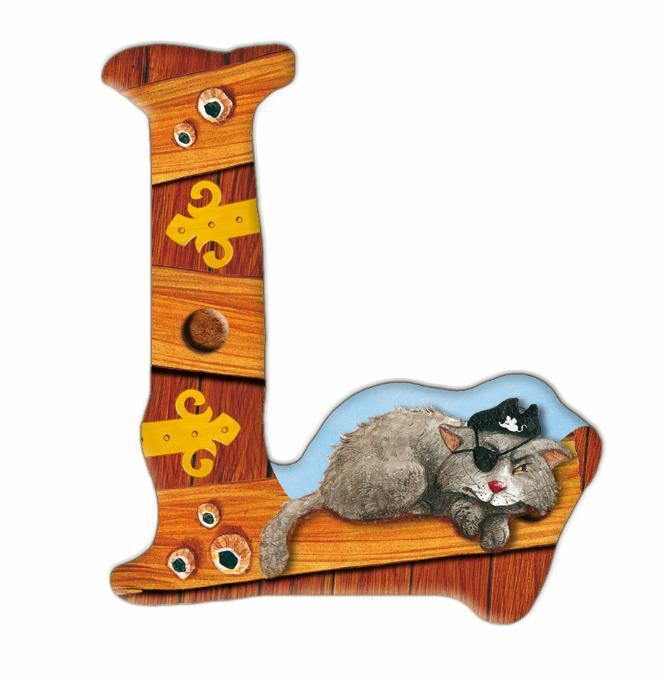 l buchstabe capt 39 n sharky capt n sharky buchstaben buchstaben kinderzimmer spiel. Black Bedroom Furniture Sets. Home Design Ideas