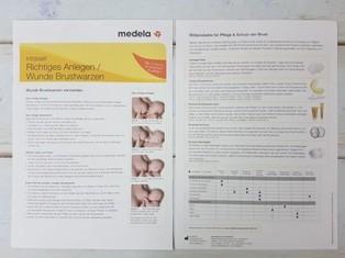 """Infoblatt Medela """"Richtiges Anlegen/Wunde Brustwarzen"""""""