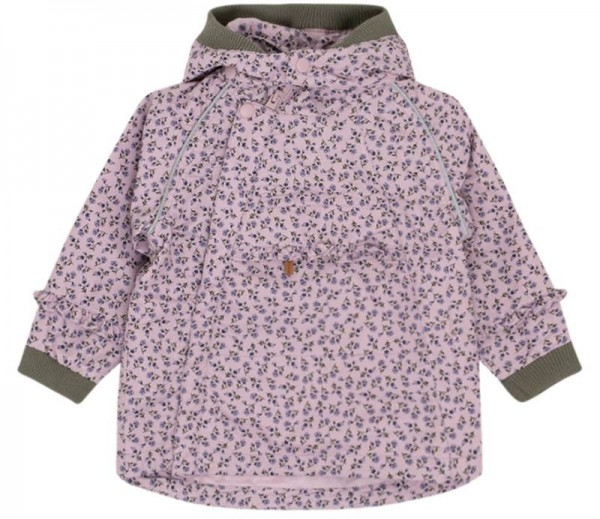 Mädchen Outdoor Jacke Obia hell lila Blumen Hust&Claire