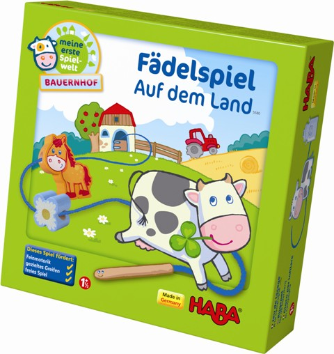 HABA Fädelspiel Auf dem Land - meine erste Spielwelt Bauernhof 5580