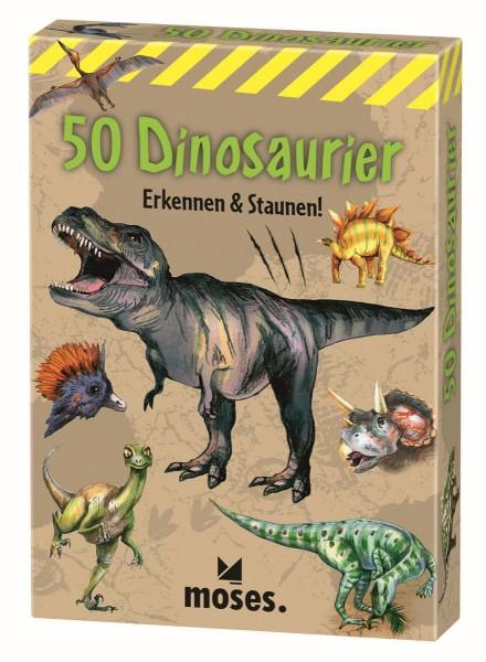 Kartensammlung 50 Dinosaurier - Moses
