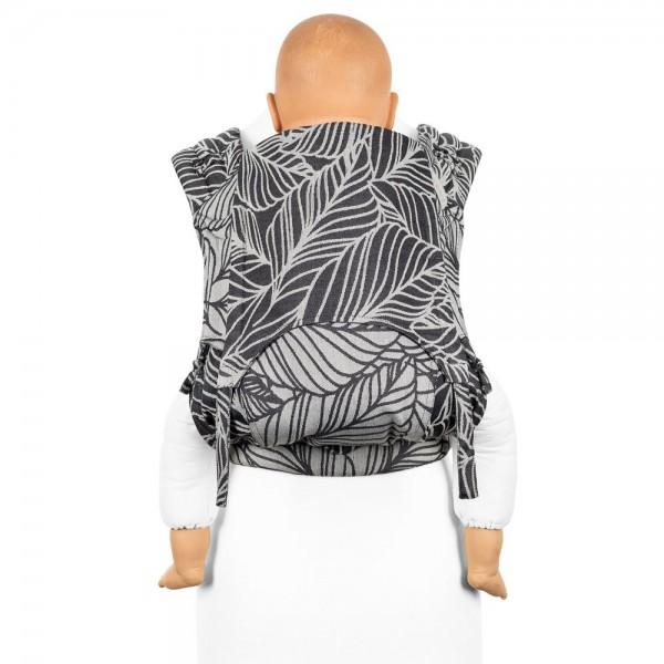 fidella tragetuch biobaumwolle anleitung tragetuch binden babytragetuch wickeltuch Fidella FlyClick Plus - Dancing Leaves schwarz-weiß