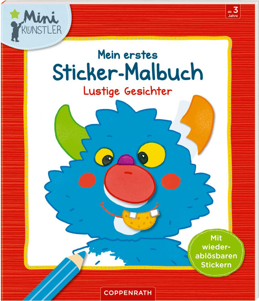 Mein erstes Sticker-Malbuch: Lustige Gesichter (Mini-Künstler ...