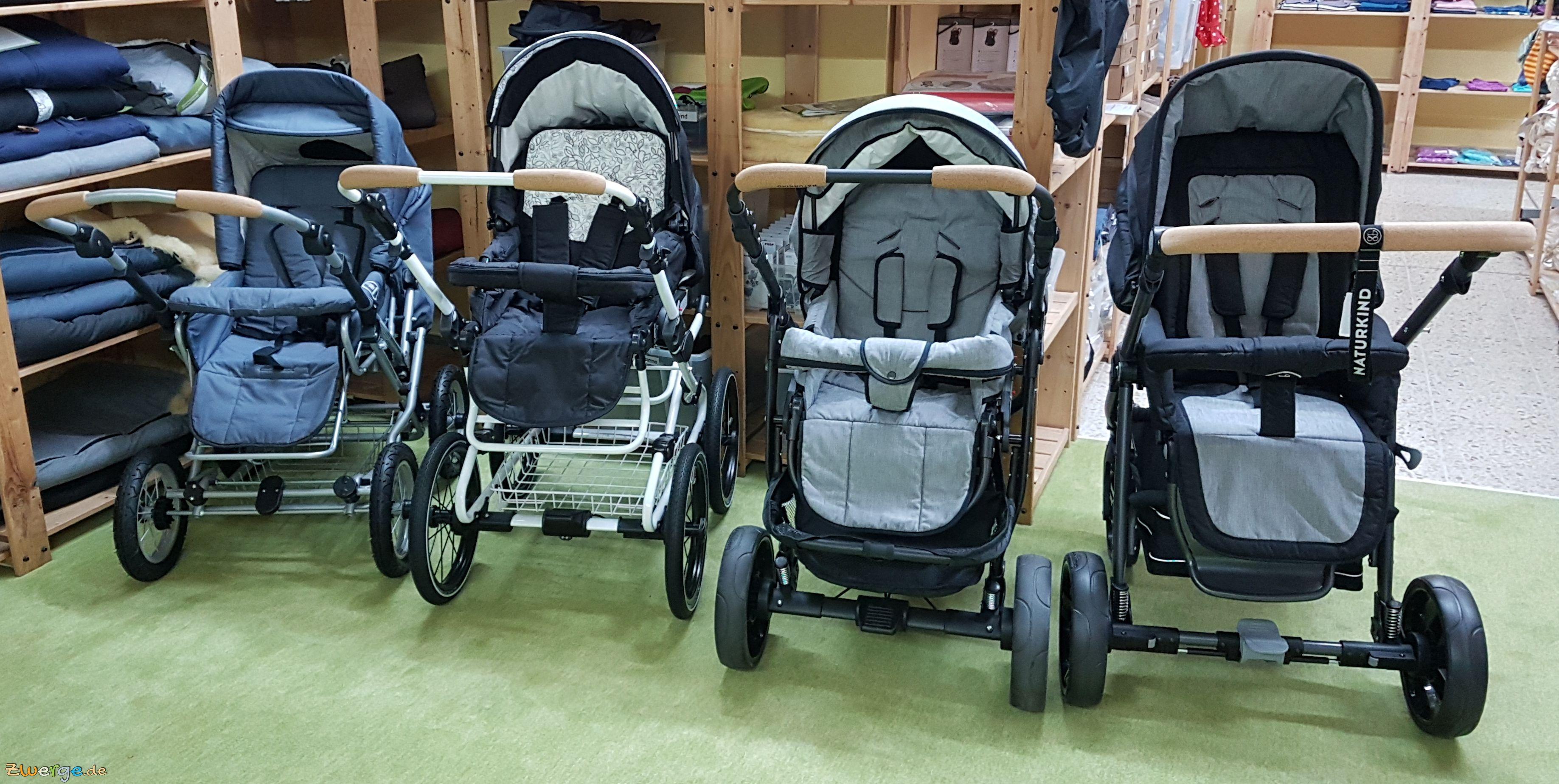 Naturkind Kinderwagen - alle 4 auf einen Blick