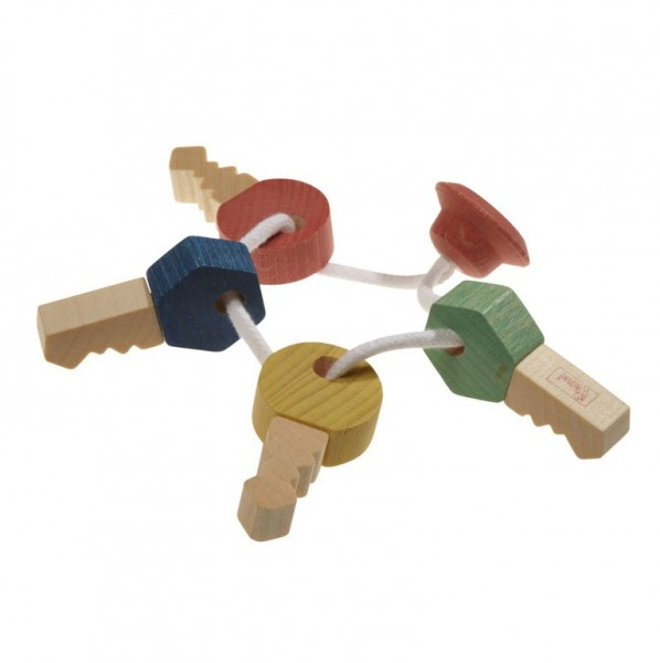 Schlüsselbund aus Holz - Babyspielzeug (bio) - nic