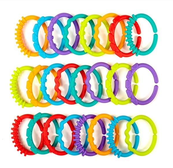Lots of links - 24 zusammensteckbare Ringe