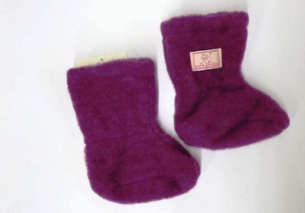 Pickapooh Stiefel Baby / Babyschuhe Wollfleece dahlia