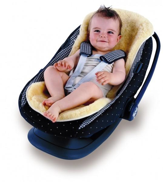 Lammfell Kaiser für Kinderwagen / Babyschale / Buggy / Autositz