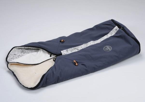Kombifußsack / Ganzjahresfußsack grau Silberfuchs SOFORT Naturkind