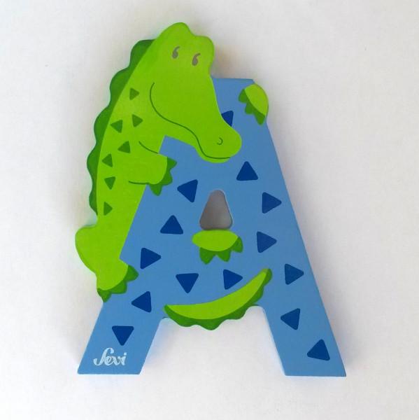 Sevi Tierbuchstabe Alligator A   Holzbuchstaben Kinderzimmer ...