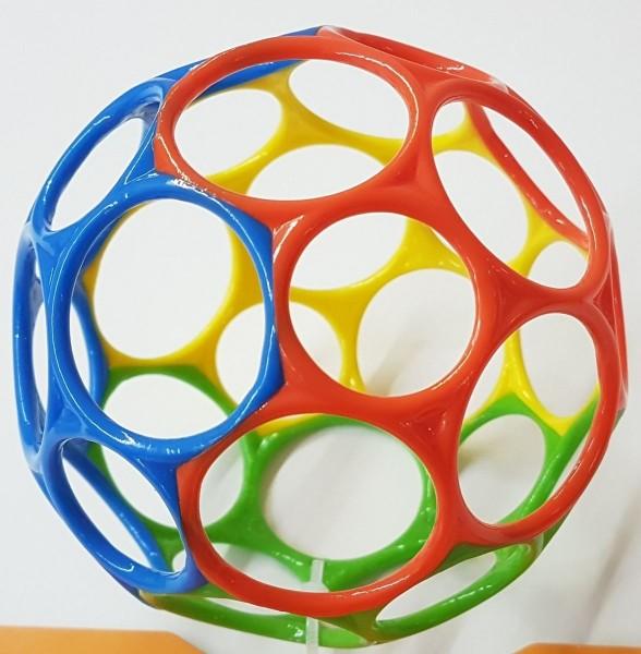 Oball gelb-blau-grün-orange (Rainbow) 10cm / o ball - Ball Baby