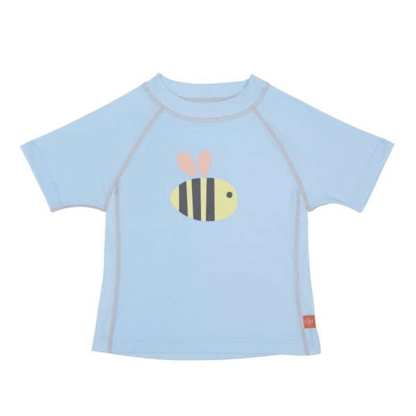 Badeshirt kurzarm Bumble Bee hellblau UV-Schutz Mädchen Splash & Fun von Lässig