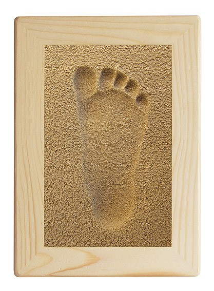 LICOFUN SandMemories Fuß mit Holzrahmen natur