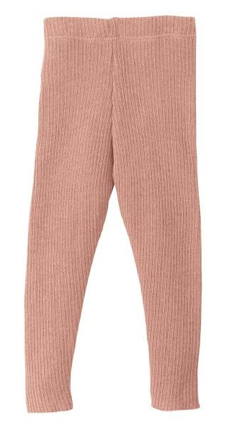 Disana Leggings rose - Wolle gestrickt