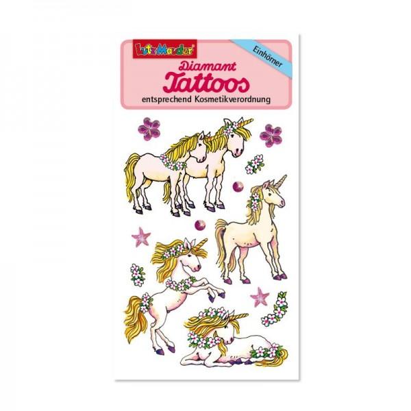 Diamant Tattoo Einhörner vom Lutz Mauder Verlag (1 Stück)