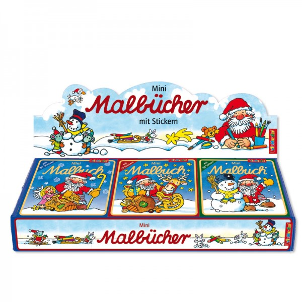 Mini-Malbuch mit Stickern Weihnachten (1 Stück sortiert) - Lutz Mauder Verlag