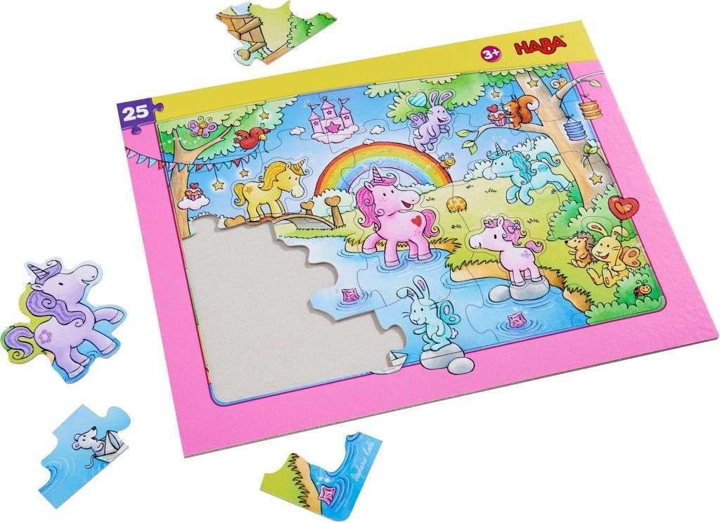 HABA Rahmenpuzzle Einhorn Glitzerglück 303706 | HABA Puzzle | HABA ...
