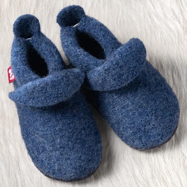 Pololo Wolli Wollwalk Lauflern-/ Hausschuhe blau/jeans